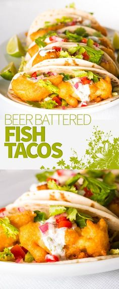 Beer Battered Fish Taco Recipe: Some glorious beer battered fish tacos are thing of great beauty, loaded with the flavours of cumin, coriander and lime
