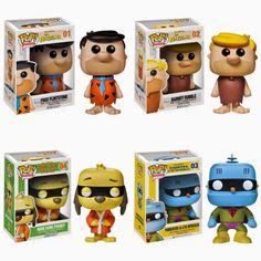 Hanna-Barbera Pop! Animation Vinyl Figures by Funko - Fred Flintstone, Barney Rubble, Hong Kong Phooey  Frankenstein Jr.