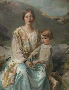 Cecilia Beaux, Mrs James Blathwaite Drinker and Her Son, 1922 (source).