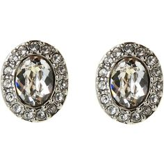 Givenchy Silver-Tone Havasu Oval Button Earrings ($20) ❤ liked on Polyvore featuring jewelry, earrings, silver, silvertone jewelry, givenchy earrings, silvertone earrings, button jewelry and givenchy jewelry
