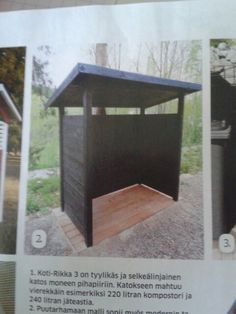 Garbage Shed, House Yard, Outdoor Projects, Sheds, Compost, My Dream Home, Outdoor Living, Pergola, Home Improvement