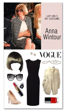 """""""Lazy Girl's DIY Costume Guide: Anna Wintour"""" by theabstractlife ❤ liked on Polyvore featuring ANNA, WigYouUp, Alexander McQueen, Chanel, Dorothy Perkins, Roland Mouret and Carolee"""