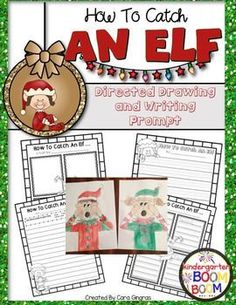 Elf Directed Drawing is an activity I love to use to engage kiddos in a fun holiday How To writing activity. Students can use this to plan and write a story based on the writing prompt How to catch an elf.