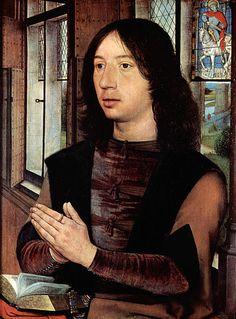 Hans Memling (circa 1433–1494)  Title Deutsch: Diptychon des Maarten van Nieuwenhove, rechte Tafel: Porträt des Maarten van Nieuvenhove
