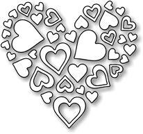 Valentine's Day is just around the corner and I've created a clean and simple card using the Impression Obsession Heart of Hearts, Spiral Flowers Large, Foliage and the Lawn Fawn Colouring Pages, Coloring Sheets, Coloring Books, Heart Template, Crown Template, Flower Template, Butterfly Template, Valentine Coloring Pages, Free Adult Coloring