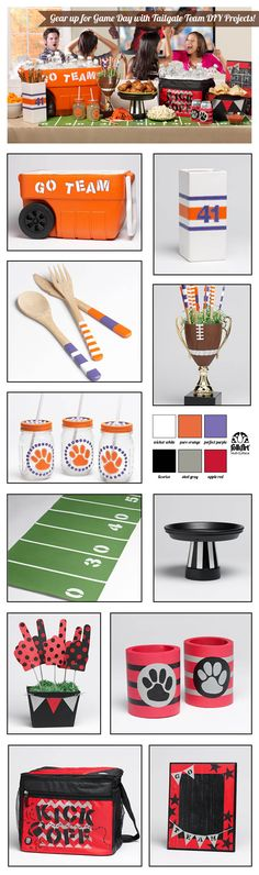 11 Tailgate & Game Day Entertaining Ideas #DIY craft projects with #folkartmulti #collegecolorsday - Click thru for the full tutorial for all the projects!