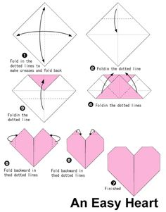 origami heart - Google Search
