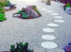 Stepping Stones through Gravel.