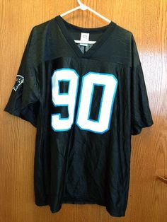 Vintage Julius Peppers Carolina Panthers Black Authentic Football Jersey Size:L