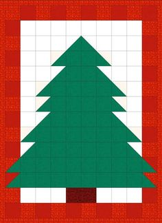 EQ Quilt Pattern Christmas Tree Quilt