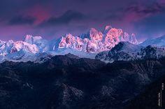 Alpenglow en Torrecerredo