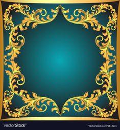 Blue background a frame vector image on VectorStock Iphone Background Images, Flower Background Wallpaper, Flower Backgrounds, Background Templates, Wallpaper Backgrounds, Happy Birthday Frame, Birthday Frames, Decent Wallpapers, Turquoise Art