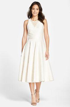 Vera Wang Embellished Jacquard Midi Dress available at #Nordstrom