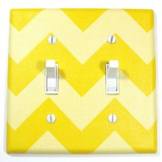 Dark and Light Yellow Chevron RILEY Double Light by ModernSwitch, $12.00 Lookie Boo Readers: Use code BLOG10 for 10% off.