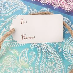All of the Indian Ocean Gift Bag range comes with these handy gift tags