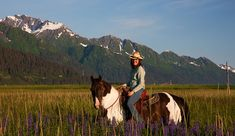 Bardy's Trail Rides - horseriding in Alaska. Who wouldn't love to ride here?!