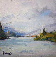 cathleen rehfeld • Daily Painting: The Rainy Gorge