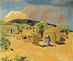 Gustave Baumann - Summer Rain (1956)