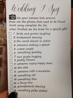 trendy wedding games for guests printables disposable camera Wedding I Spy, Wedding Games For Guests, Wedding Reception Games, Wedding Favors Cheap, Cute Wedding Ideas, Wedding Guest Book, Trendy Wedding, Wedding Table, Dream Wedding