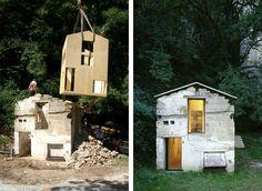 """""""La merveilleuse reconstruction poétique d'une ruine par le cabinet d'architecture Naumann architektur, cette maison a obtenu une nouvelle âme!"""""""