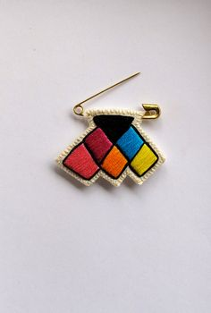 Rainbow chevron badge embroidered small on a by AnAstridEndeavor