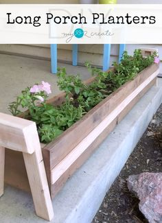 Build your own DIY Porch Planters with this awesome picture tutorial at My Love 2 Create!