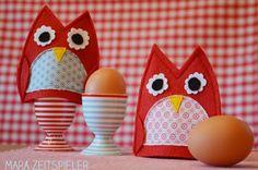 Egg-Owls - Eierwärmer-Eulen by Mara Zeitspieler