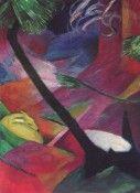 Reh im Walde II - Franz Marc - Gemälde Reproduktionen in Premium Qualität auf paintify.de #paintify #Kunst #Dekoration #Franz_Mark #shopping #handgemalt  #Gemaelde #Oelgemaelde #Foto  #Reproduktionen #Alte_Meister #Geschenk #personalisierte #Geschenke #Geschenkidee #Geschenkideen #historisch #Tiere #Animals