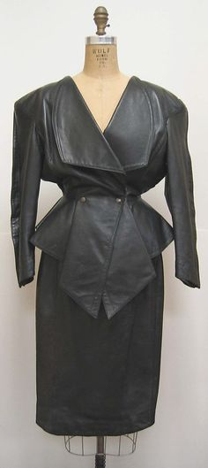 Thierry Mugler Leather Suit 1981