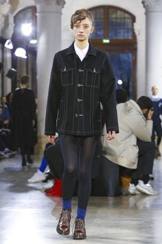 Julien David Fashion Show Menswear Collection Fall Winter 2017 in Paris