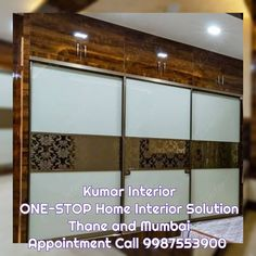 Looking for a Reasonable Interior Designer ? Someone who can take care of your complete Home interior work ? A Team who is ready to work… Wardrobe Interior Design, Wardrobe Door Designs, Wardrobe Design Bedroom, Bedroom Bed Design, Modern Bedroom Decor, Interior Work, Bedroom Furniture Design, Kitchen Furniture, Smart Furniture