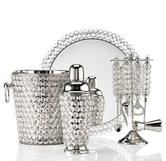 US$39.95 Tray, $59.95 (Shaker) $69.95 (tools) & $139.95 (bucket) Bling Bar Collection | Serveware | Tableware | Z Gallerie