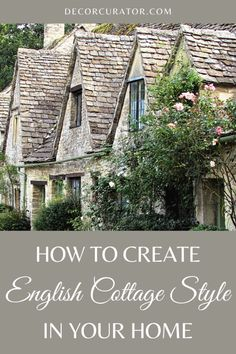 English Cottage Interiors, English Cottage Style, Cottage Style Homes, English House, Cottage Design, Farm Cottage, Modern Cottage, Beautiful Places In England, Manor House Hotel