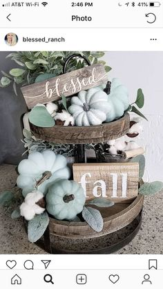 21 Best Tiered Tray Decor Ideas for Fall Thanksgiving Decorations, Seasonal Decor, Holiday Decor, Harvest Decorations, Tray Decor, Decoration Table, Fall Home Decor, Autumn Home, Blue Fall Decor