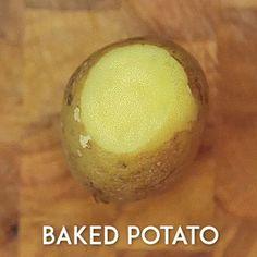 Запеченный картофель в беконе
