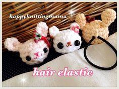 かぎ針編みのうさぎ(クマ)のヘアゴムの作り方☆How to crochet a hair elastic - YouTube