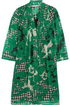 Diane von Furstenberg Layla printed silk-chiffon mini dress | THE OUTNET
