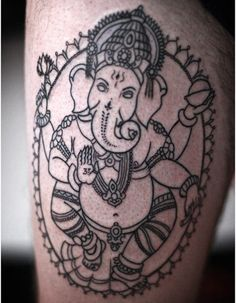 ganesh tattoo outline