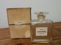 Chanel No 5 Old Vintage Perfume Bottle in Box by TuscaderoAllsorts