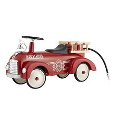 Fire Engine Speedster ride-on toy at Land of Nod Fire Truck Nursery, Vintage Truck Nursery, Fire Engine Toy, Toddler Rooms, Baby Rooms, Kids Rooms, Land Of Nod, Playroom Design, Ride On Toys
