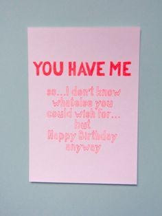 Postkaart Birthday gift