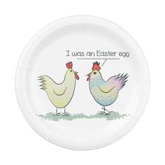 Shop Funny Chicken was an Easter Egg Paper Plate created by ironydesign. Easter Art, Easter Ideas, Easter Eggs, Funny Chicken, Chicken Humor, Chicken Drawing, Cute Chickens, Paint Your Own Pottery, Design Palette