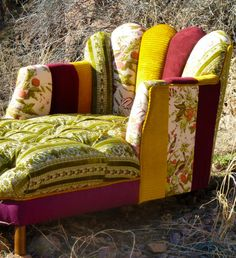 just really like this chair's shape (like the idea of eclectic upholstery, but not in these colors/patterns)