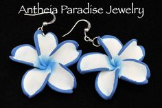 Hawaiian Jewelry  Polymer Clay Plumeria Flower by AntheiaJewelry, $8.95