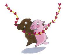 Pig Illustration, Illustrations, Pig Drawing, Partner, Pigs, Cartoons, Snoopy, Bullet Journal, My Favorite Things