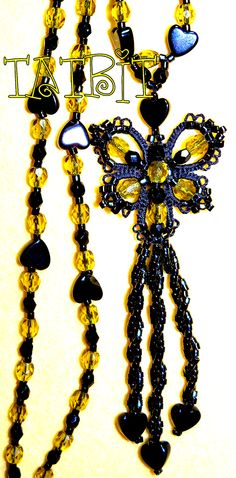 TATtle TALES Tatting Patterns - All beaded butterfly earrings are designed and tatted by Teri Dusenbury.