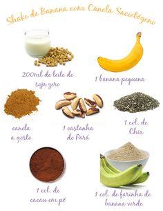 Shake de Banana com Canela || Receita pra trazer saciedade e pode substituir o jantar em dietas de emagreciemento.