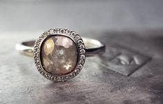 Chinchar Maloney - unusual diamond ring - so beautiful