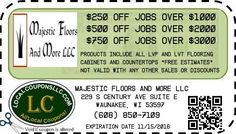 Coupon in Waunakee WI for Majestic Floors And More LLC from Local Coupons LLC.