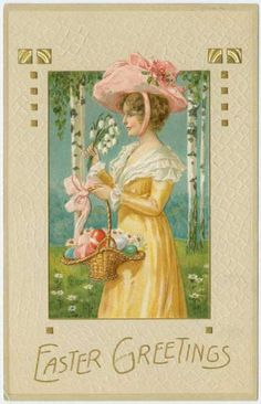 Image detail for -Vintage Easter Cards online. Think Easter Eggs, Easter Bunnies, Easter ...